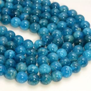Shop Apatite Round Beads! 10mm Genuine Natural Blue Apatite Gemstone Grade AAA Round Loose Beads 7.5 inch Half Strand (80007909 H-117)   Natural genuine round Apatite beads for beading and jewelry making.  #jewelry #beads #beadedjewelry #diyjewelry #jewelrymaking #beadstore #beading #affiliate #ad