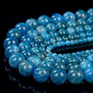 Shop Apatite Round Beads! Natural Apatite Gemstone Grade AA Round 4MM 5MM 6MM 8MM 9MM 10MM Loose Beads (D26)   Natural genuine round Apatite beads for beading and jewelry making.  #jewelry #beads #beadedjewelry #diyjewelry #jewelrymaking #beadstore #beading #affiliate #ad
