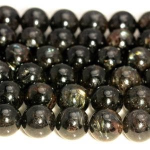 Genuine Natural Black Astrophyllite Gemstone Grade AAA 6mm 8mm 10mm Round Loose Beads (A228) | Natural genuine beads Gemstone beads for beading and jewelry making.  #jewelry #beads #beadedjewelry #diyjewelry #jewelrymaking #beadstore #beading #affiliate #ad