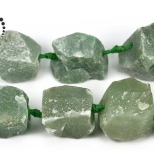 "Shop Aventurine Beads! Green aventurine rough cut nugget beads,raw beads,Irregular beads,freedom beads,12-24×18-30mm,15"" full strand 