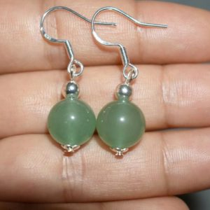 Shop Aventurine Earrings! Green Aventurine Earrings for Women Dangly, Green Drop Earrings, Natural Stone Earrings, Green Earrings Dangle, Sterling Silver Earrings | Natural genuine Aventurine earrings. Buy crystal jewelry, handmade handcrafted artisan jewelry for women.  Unique handmade gift ideas. #jewelry #beadedearrings #beadedjewelry #gift #shopping #handmadejewelry #fashion #style #product #earrings #affiliate #ad
