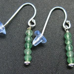 Shop Aventurine Earrings! Simplicity at its Best!  Sparkly faceted Green Aventurine Tiny Beads Silver Dangle Shepherd Hook Earrings | Natural genuine Aventurine earrings. Buy crystal jewelry, handmade handcrafted artisan jewelry for women.  Unique handmade gift ideas. #jewelry #beadedearrings #beadedjewelry #gift #shopping #handmadejewelry #fashion #style #product #earrings #affiliate #ad