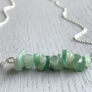 Shop Aventurine Necklaces! Aventurine Jewelry, Tiny Aventurine Necklace, Minimalist Crystal Necklace, Healing Crystal Necklace, Heart Chakra Necklace, Necklace for Her   Natural genuine Aventurine necklaces. Buy crystal jewelry, handmade handcrafted artisan jewelry for women.  Unique handmade gift ideas. #jewelry #beadednecklaces #beadedjewelry #gift #shopping #handmadejewelry #fashion #style #product #necklaces #affiliate #ad