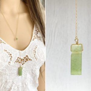 Quality Gold Filled Aventurine Necklace, Crystal Healing Necklace, Gift for Her, Green Aventurine Pendant,Crystal Healing Aventurine Jewelry | Natural genuine Gemstone necklaces. Buy crystal jewelry, handmade handcrafted artisan jewelry for women.  Unique handmade gift ideas. #jewelry #beadednecklaces #beadedjewelry #gift #shopping #handmadejewelry #fashion #style #product #necklaces #affiliate #ad