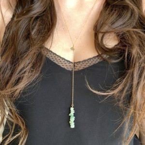 Shop Aventurine Necklaces! Green Aventurine Necklace, Long Aventurine Necklace, Healing Crystal Necklace, Gift for Mom, Layering Necklace, Yoga Necklace, Green Stone   Natural genuine Aventurine necklaces. Buy crystal jewelry, handmade handcrafted artisan jewelry for women.  Unique handmade gift ideas. #jewelry #beadednecklaces #beadedjewelry #gift #shopping #handmadejewelry #fashion #style #product #necklaces #affiliate #ad