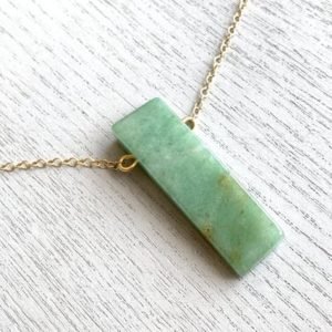 Shop Aventurine Necklaces! Raw Aventurine Necklace – Green Crystal Necklace – Aventurine Jewelry – Green Stone Necklace Men – Good Luck Necklace – Crystal Gift For Her | Natural genuine Aventurine necklaces. Buy crystal jewelry, handmade handcrafted artisan jewelry for women.  Unique handmade gift ideas. #jewelry #beadednecklaces #beadedjewelry #gift #shopping #handmadejewelry #fashion #style #product #necklaces #affiliate #ad