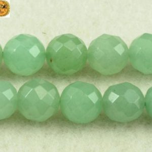 Shop Aventurine Beads! Aventurine,15 inch full strand Green Aventurine faceted(64 faces) round beads 3mm 6mm 8mm 10mm 12mm 14mm for Choice | Natural genuine beads Aventurine beads for beading and jewelry making.  #jewelry #beads #beadedjewelry #diyjewelry #jewelrymaking #beadstore #beading #affiliate #ad