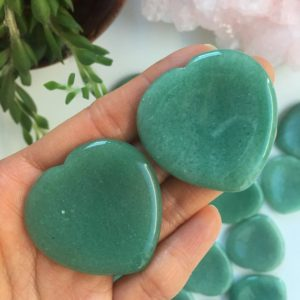 Shop Aventurine Shapes! Green Aventurine Heart-Shaped Worry Stone, Green Aventurine, Worry Stone | Natural genuine stones & crystals in various shapes & sizes. Buy raw cut, tumbled, or polished gemstones for making jewelry or crystal healing energy vibration raising reiki stones. #crystals #gemstones #crystalhealing #crystalsandgemstones #energyhealing #affiliate #ad
