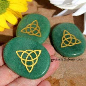 Shop Aventurine Shapes! TRIQUETRA Aventurine Palm Stone, Pocket stone, Triple Goddess, | Natural genuine stones & crystals in various shapes & sizes. Buy raw cut, tumbled, or polished gemstones for making jewelry or crystal healing energy vibration raising reiki stones. #crystals #gemstones #crystalhealing #crystalsandgemstones #energyhealing #affiliate #ad