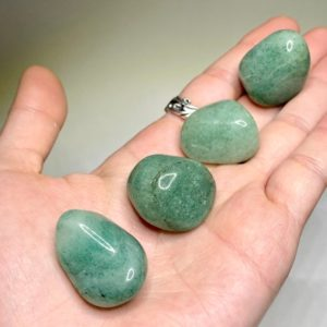 Shop Tumbled Aventurine Crystals & Pocket Stones! Green Aventurine Tumbled Stones | Natural genuine stones & crystals in various shapes & sizes. Buy raw cut, tumbled, or polished gemstones for making jewelry or crystal healing energy vibration raising reiki stones. #crystals #gemstones #crystalhealing #crystalsandgemstones #energyhealing #affiliate #ad
