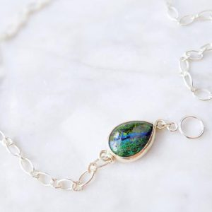 Shop Azurite Necklaces! Azurite malachite necklace, azurite necklace, toggle necklace, toggle clasp necklace, statement jewelry, sterling silver statement necklace | Natural genuine Azurite necklaces. Buy crystal jewelry, handmade handcrafted artisan jewelry for women.  Unique handmade gift ideas. #jewelry #beadednecklaces #beadedjewelry #gift #shopping #handmadejewelry #fashion #style #product #necklaces #affiliate #ad