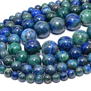 Azurite Beads Grade AAA Natural Gemstone Round Loose Beads 4MM 6MM 8-9MM 10MM Bulk Lot Options | Natural genuine round Azurite beads for beading and jewelry making.  #jewelry #beads #beadedjewelry #diyjewelry #jewelrymaking #beadstore #beading #affiliate #ad
