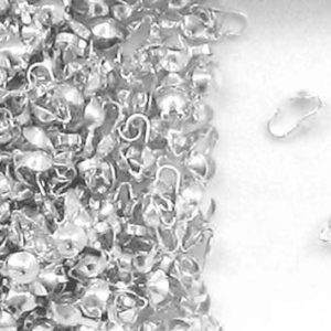 Shop Bead Tips & Knot Covers! Bead Tips Sterling Silver Clamshell Bead Tips Silver 3.5mm Clam Shell Bead Tips Beading Supplies | Shop jewelry making and beading supplies, tools & findings for DIY jewelry making and crafts. #jewelrymaking #diyjewelry #jewelrycrafts #jewelrysupplies #beading #affiliate #ad