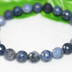 Beaded Bracelets, Natural Dumortierite Beads ,Faceted Dumortierite Beads Bracelet,Bracelet wholesale, Gift Jewelry,Dumortierite Bracelet | Natural genuine Gemstone jewelry. Buy crystal jewelry, handmade handcrafted artisan jewelry for women.  Unique handmade gift ideas. #jewelry #beadedjewelry #beadedjewelry #gift #shopping #handmadejewelry #fashion #style #product #jewelry #affiliate #ad