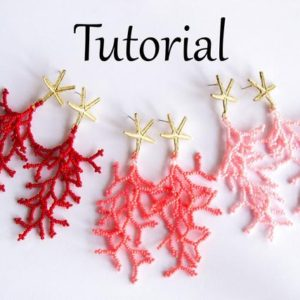 Shop Jewelry Making Tutorials! Beading tutorial Coral beaded earrings – How to make seed bead earrings – Coraling Technique beadweaving – Jewelry making beadwork pattern | Shop jewelry making and beading supplies, tools & findings for DIY jewelry making and crafts. #jewelrymaking #diyjewelry #jewelrycrafts #jewelrysupplies #beading #affiliate #ad