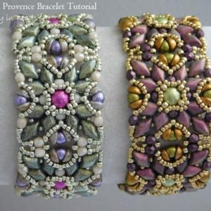 Shop Jewelry Making Tutorials! Beading Tutorial, Spring in Provence Bracelet Tutorial, Beading Pattern, Beaded Bracelet, Gemduo, Diamonduo, 3mm Firepolish, Teacup Beads | Shop jewelry making and beading supplies, tools & findings for DIY jewelry making and crafts. #jewelrymaking #diyjewelry #jewelrycrafts #jewelrysupplies #beading #affiliate #ad