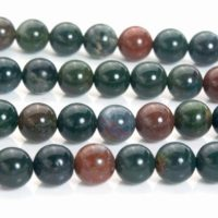 Bloodstone Beads – Natural Bloodstone Necklace Beads – Indian Bloodstone Jewelry Gemstones – Blood Stone Round Beads – 6-10mm Beads -15inch | Natural genuine Gemstone jewelry. Buy crystal jewelry, handmade handcrafted artisan jewelry for women.  Unique handmade gift ideas. #jewelry #beadedjewelry #beadedjewelry #gift #shopping #handmadejewelry #fashion #style #product #jewelry #affiliate #ad