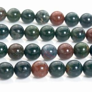 Shop Bloodstone Necklaces! bloodstone beads – natural bloodstone necklace  beads – Indian bloodstone jewelry gemstones – blood stone round beads – 6-10mm beads -15inch | Natural genuine Bloodstone necklaces. Buy crystal jewelry, handmade handcrafted artisan jewelry for women.  Unique handmade gift ideas. #jewelry #beadednecklaces #beadedjewelry #gift #shopping #handmadejewelry #fashion #style #product #necklaces #affiliate #ad