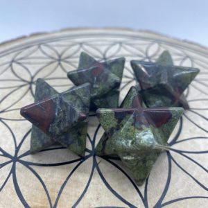 Shop Bloodstone Shapes! 35mm Dragon's Bloodstone Merkabas – Reiki Charged – Healing Energy – Powerful Crystal Energy – Soothing – Increase Strength & Endurance | Natural genuine stones & crystals in various shapes & sizes. Buy raw cut, tumbled, or polished gemstones for making jewelry or crystal healing energy vibration raising reiki stones. #crystals #gemstones #crystalhealing #crystalsandgemstones #energyhealing #affiliate #ad
