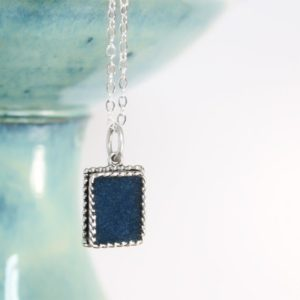 Blue Azurite Necklace – Third Eye Chakra Necklace – Blue Azurite Pendant – Stocking Stuffer | Natural genuine Azurite necklaces. Buy crystal jewelry, handmade handcrafted artisan jewelry for women.  Unique handmade gift ideas. #jewelry #beadednecklaces #beadedjewelry #gift #shopping #handmadejewelry #fashion #style #product #necklaces #affiliate #ad