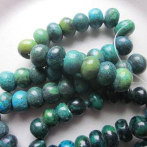 Shop Serpentine Rondelle Beads! Blue Serpentine Rondelle Beads 15-16mm 10 Beads | Natural genuine rondelle Serpentine beads for beading and jewelry making.  #jewelry #beads #beadedjewelry #diyjewelry #jewelrymaking #beadstore #beading #affiliate #ad
