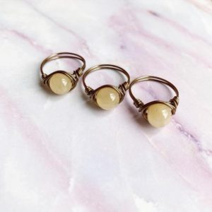 Shop Calcite Rings! Calcite Ring | Natural genuine Calcite rings, simple unique handcrafted gemstone rings. #rings #jewelry #shopping #gift #handmade #fashion #style #affiliate #ad