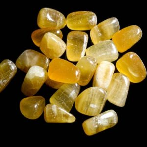 Shop Tumbled Calcite Crystals & Pocket Stones! Caramel Calcite Medium Tumbled | Natural genuine stones & crystals in various shapes & sizes. Buy raw cut, tumbled, or polished gemstones for making jewelry or crystal healing energy vibration raising reiki stones. #crystals #gemstones #crystalhealing #crystalsandgemstones #energyhealing #affiliate #ad