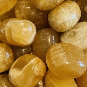 Honey Calcite, Honey Calcite Tumbled Stone, Brown Calcite, Amber Colored Calcite | Natural genuine stones & crystals in various shapes & sizes. Buy raw cut, tumbled, or polished gemstones for making jewelry or crystal healing energy vibration raising reiki stones. #crystals #gemstones #crystalhealing #crystalsandgemstones #energyhealing #affiliate #ad