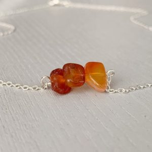 Shop Carnelian Necklaces! CARNELIAN SILVER NECKLACE – Carnelian Jewelry – July Birthday Gifts – Red Gemstone Necklace – Solar Plexus Necklace – Raw Carnelian Necklace | Natural genuine Carnelian necklaces. Buy crystal jewelry, handmade handcrafted artisan jewelry for women.  Unique handmade gift ideas. #jewelry #beadednecklaces #beadedjewelry #gift #shopping #handmadejewelry #fashion #style #product #necklaces #affiliate #ad