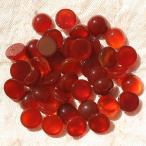 Shop Carnelian Round Beads! 2PC – Cabochon stone – carnelian round 8mm – 4558550016607 | Natural genuine round Carnelian beads for beading and jewelry making.  #jewelry #beads #beadedjewelry #diyjewelry #jewelrymaking #beadstore #beading #affiliate #ad