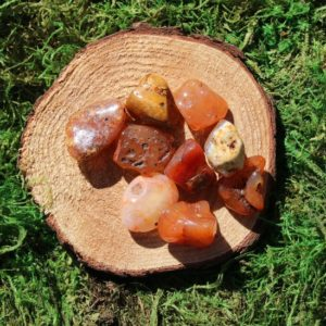 Shop Tumbled Carnelian Crystals & Pocket Stones! Carnelian Irregular Shaped Tumbled | Natural genuine stones & crystals in various shapes & sizes. Buy raw cut, tumbled, or polished gemstones for making jewelry or crystal healing energy vibration raising reiki stones. #crystals #gemstones #crystalhealing #crystalsandgemstones #energyhealing #affiliate #ad