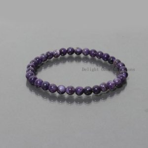 Natural  Purple Charoite Smooth Round Beads Bracelet,6mm Charoite Beads,Charoite,Genuine Charoite Stretch Bracelet, Crystal Healing Bracelet | Natural genuine Gemstone bracelets. Buy crystal jewelry, handmade handcrafted artisan jewelry for women.  Unique handmade gift ideas. #jewelry #beadedbracelets #beadedjewelry #gift #shopping #handmadejewelry #fashion #style #product #bracelets #affiliate #ad