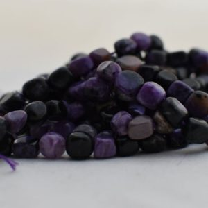 """Shop Charoite Chip & Nugget Beads! High Quality Grade A Natural Charoite Semi-precious Gemstone Pebble Tumbled stone Nugget Beads approx 7mm-10mm – 15"""" long 