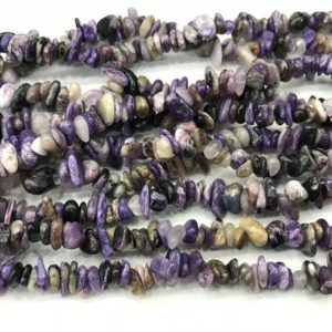 Shop Charoite Chip & Nugget Beads! Natural Charoite 5-8mm Chips Genuine Loose Purple Nugget Beads 34 inch Jewelry Supply Bracelet Necklace Material Support Wholesale | Natural genuine chip Charoite beads for beading and jewelry making.  #jewelry #beads #beadedjewelry #diyjewelry #jewelrymaking #beadstore #beading #affiliate #ad