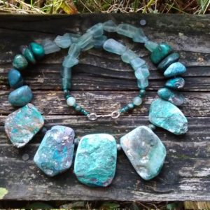 Shop Chrysocolla Necklaces! Chrysocolla Necklace   Natural genuine Chrysocolla necklaces. Buy crystal jewelry, handmade handcrafted artisan jewelry for women.  Unique handmade gift ideas. #jewelry #beadednecklaces #beadedjewelry #gift #shopping #handmadejewelry #fashion #style #product #necklaces #affiliate #ad