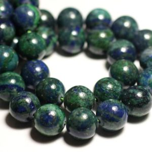 Shop Chrysocolla Bead Shapes! 5pc – stone beads – Chrysocolla balls 10mm 4558550037466 | Natural genuine other-shape Chrysocolla beads for beading and jewelry making.  #jewelry #beads #beadedjewelry #diyjewelry #jewelrymaking #beadstore #beading #affiliate #ad