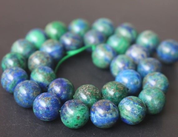 6mm/8mm/10mm/12mm Chrysocolla Beads,dyed Chrysocolla Beads,smooth And Round Stone Beads,15 Inches One Starand