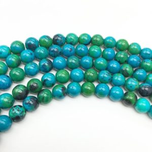 Shop Chrysocolla Round Beads! 8mm Chrysocolla Beads, Round Gemstone Beads, Wholesale Beads | Natural genuine round Chrysocolla beads for beading and jewelry making.  #jewelry #beads #beadedjewelry #diyjewelry #jewelrymaking #beadstore #beading #affiliate #ad
