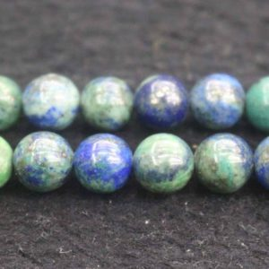 Shop Chrysocolla Round Beads! Natural Chrysocolla Smooth Round Beads,4mm 6mm 8mm 10mm 12mm Lapis lazuli Beads Wholesale Supply,one strand 15"