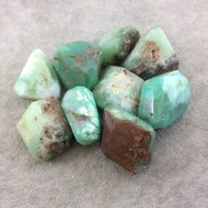 25-35mm Large Faceted Chrysoprase Earthy Nugget Bead – Sold Individually, Randomly Chosen – Quality Hand-Cut Indian Semi-Precious Gemstone | Natural genuine chip Chrysoprase beads for beading and jewelry making.  #jewelry #beads #beadedjewelry #diyjewelry #jewelrymaking #beadstore #beading #affiliate #ad