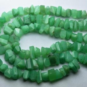 Shop Chrysoprase Chip & Nugget Beads! 7 Inch Strand,Natural Chrysoprase Faceted Fancy Nuggets  Shape Size 7-8mm | Natural genuine chip Chrysoprase beads for beading and jewelry making.  #jewelry #beads #beadedjewelry #diyjewelry #jewelrymaking #beadstore #beading #affiliate #ad