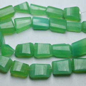 Shop Chrysoprase Chip & Nugget Beads! 7 Inch Strand,Chrysoprase Chalcedony Faceted Nuggets Shape,Size 14-16mm | Natural genuine chip Chrysoprase beads for beading and jewelry making.  #jewelry #beads #beadedjewelry #diyjewelry #jewelrymaking #beadstore #beading #affiliate #ad