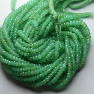 Shop Chrysoprase Faceted Beads! 13 Inches Strand,Finest Quality,Natural Shaded Chrysoprase Faceted Rondelles,Size 4-4.25mm | Natural genuine faceted Chrysoprase beads for beading and jewelry making.  #jewelry #beads #beadedjewelry #diyjewelry #jewelrymaking #beadstore #beading #affiliate #ad
