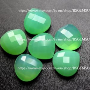 Shop Chrysoprase Faceted Beads! 5 pcs,Chrysoprase Chalcedony Faceted  Heart Shape ,Size 12mm | Natural genuine faceted Chrysoprase beads for beading and jewelry making.  #jewelry #beads #beadedjewelry #diyjewelry #jewelrymaking #beadstore #beading #affiliate #ad