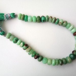 Shop Chrysoprase Necklaces! 8-8.5mm Chrysoprase Faceted Rondelles, Shaded Chrysoprase Faceted Beads, 8 Inch, 40 Pcs Chrysoprase Beads For Necklace – Adg346   Natural genuine Chrysoprase necklaces. Buy crystal jewelry, handmade handcrafted artisan jewelry for women.  Unique handmade gift ideas. #jewelry #beadednecklaces #beadedjewelry #gift #shopping #handmadejewelry #fashion #style #product #necklaces #affiliate #ad
