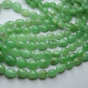 Shop Chrysoprase Bead Shapes! 14 Inches Strand,Natural Chrysoprase Smooth Oval Beads,Size 7-11mm   Natural genuine other-shape Chrysoprase beads for beading and jewelry making.  #jewelry #beads #beadedjewelry #diyjewelry #jewelrymaking #beadstore #beading #affiliate #ad