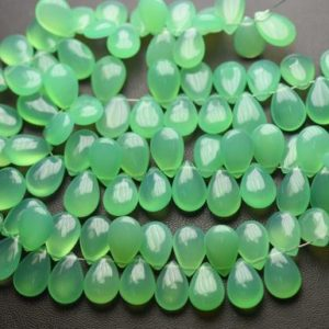 Shop Chrysoprase Bead Shapes! 8 Inch Strand,Chrysoprase Chalcedony Smooth Pear Shape Briolettes,Size 8x12mm | Natural genuine other-shape Chrysoprase beads for beading and jewelry making.  #jewelry #beads #beadedjewelry #diyjewelry #jewelrymaking #beadstore #beading #affiliate #ad