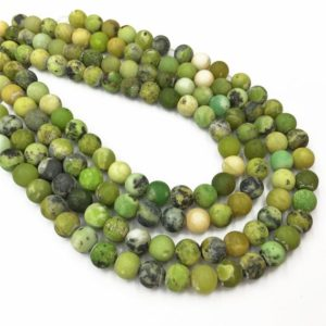 Shop Chrysoprase Round Beads! 8mm Matte Chrysoprase Beads, Round Gemstone Beads, Wholesale Beads | Natural genuine round Chrysoprase beads for beading and jewelry making.  #jewelry #beads #beadedjewelry #diyjewelry #jewelrymaking #beadstore #beading #affiliate #ad