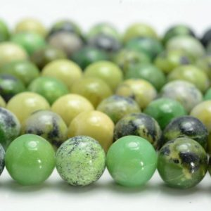 Shop Chrysoprase Beads! Genuine Natural Chrysoprase Gemstone Green 6mm 8mm 10mm Round Loose Beads 15 Inch Full Strand (a233) | Natural genuine beads Chrysoprase beads for beading and jewelry making.  #jewelry #beads #beadedjewelry #diyjewelry #jewelrymaking #beadstore #beading #affiliate #ad