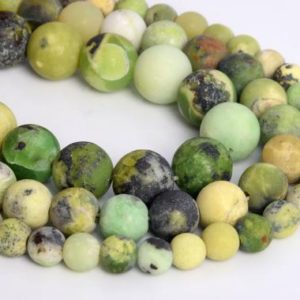 Shop Chrysoprase Beads! Genuine Natural Matte Chrysoprase / Australian Jade Loose Beads Round Shape 6mm 8mm 10mm | Natural genuine beads Chrysoprase beads for beading and jewelry making.  #jewelry #beads #beadedjewelry #diyjewelry #jewelrymaking #beadstore #beading #affiliate #ad